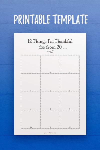 GP: 12 Things I'm Thankful For InDesign Template