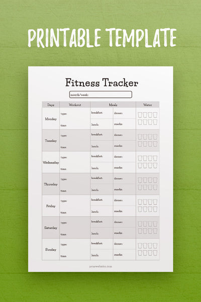 HF: Fitness Tracker InDesign Template