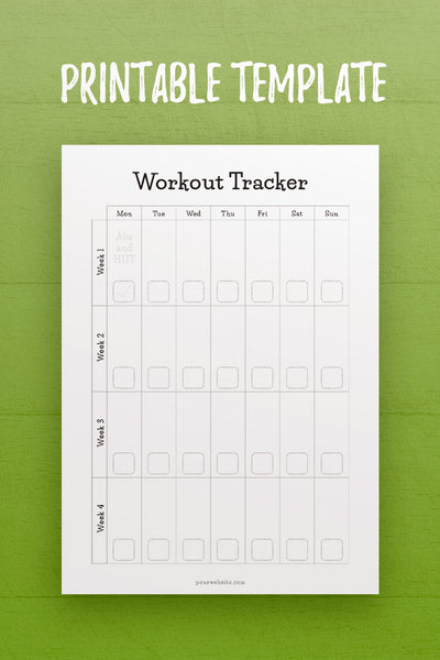 HF: Workout Tracker InDesign Template