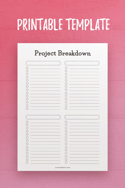 CSB: Project Breakdown InDesign Template