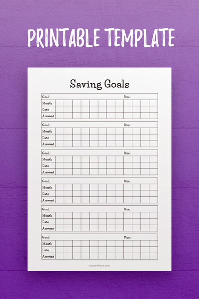 FP: Saving Goals InDesign Template