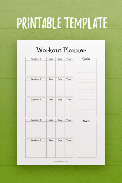 HF: Workout Planner InDesign Template