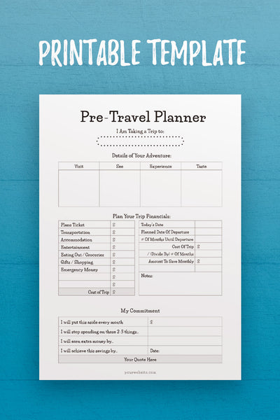 MOL: Pre-Travel Planner InDesign Template