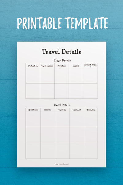 MOL: Travel Details InDesign Template