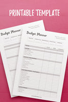 YY: Budget Planner InDesign Template