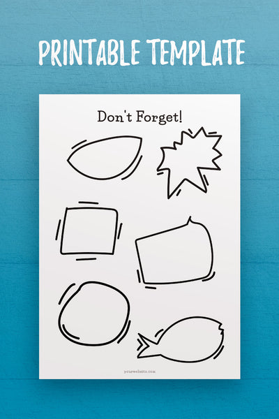 MOL: Don't Forget InDesign Template