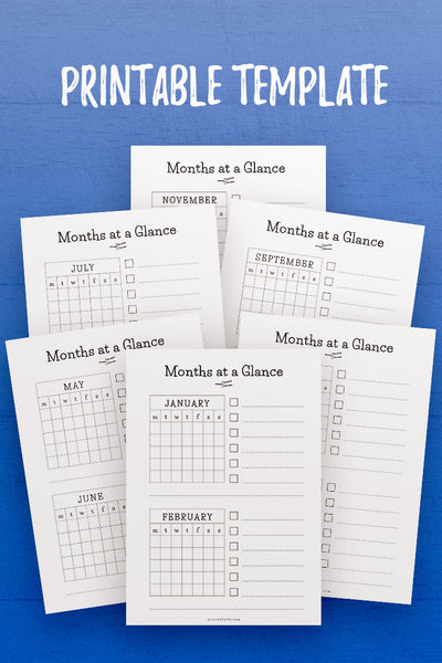 GP: Months at a Glance InDesign Template
