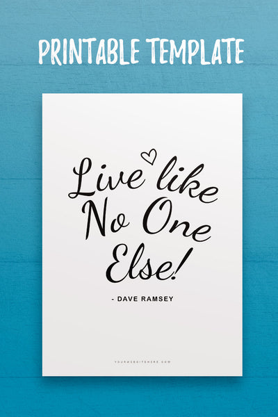 IQ: Live Like No One Else Quote Template
