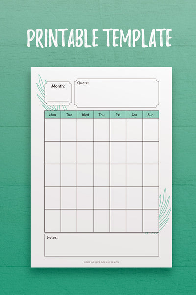Lovely Monthly Planner InDesign Template