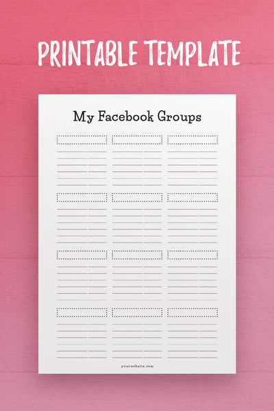 CSB: My Facebook Groups InDesign Template