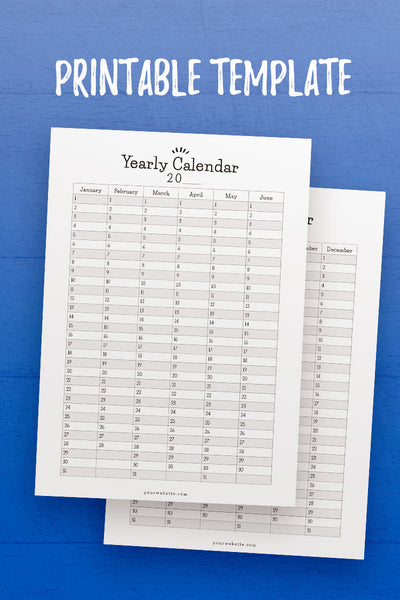 GP: Year at a Glance InDesign Template