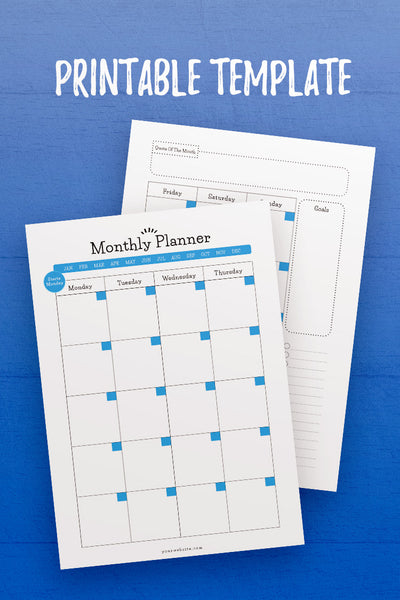 GP: Monthly Planner InDesign Template [Monday]