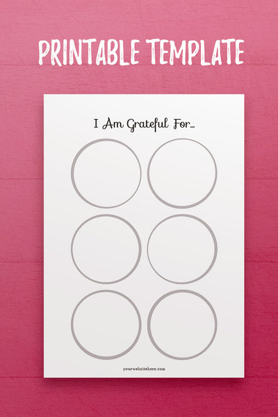 YY: I Am Grateful InDesign Template