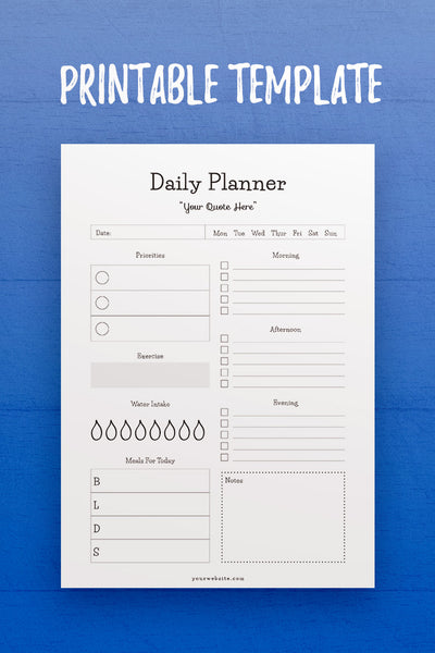 GP: Daily Planner InDesign Template