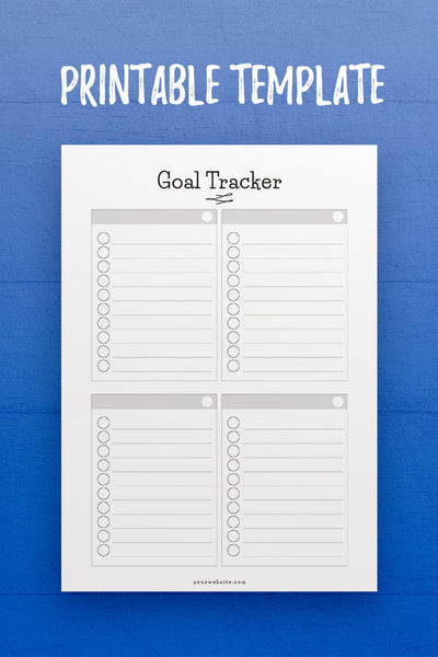 GP: Goal Tracker InDesign Template