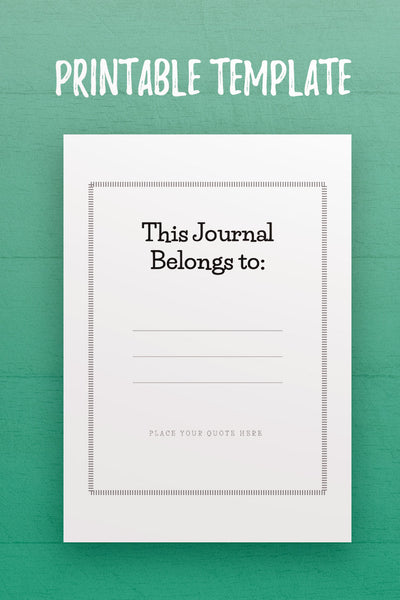 MBJ: This Journal Belongs to InDesign Template