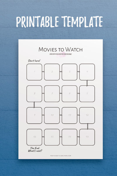 Movies to Watch InDesign Template
