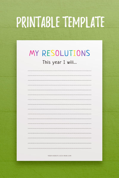My Resolutions 1 InDesign Template