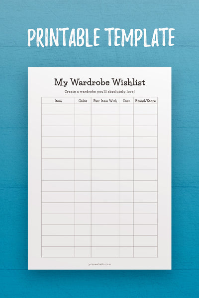 MOL: My Wardrobe Wishlist InDesign Template