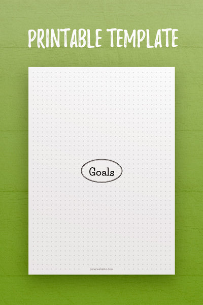 HF: Goals InDesign Template