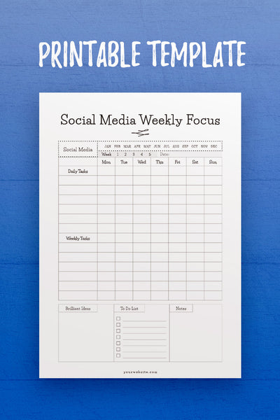 GP: Social Media Weekly Focus InDesign Template