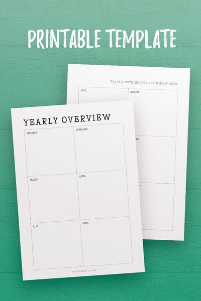 MBJ: Yearly Overview InDesign Template