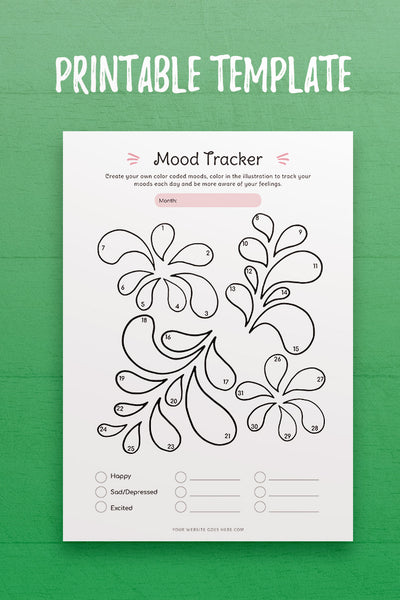 Mood Tracker InDesign Template