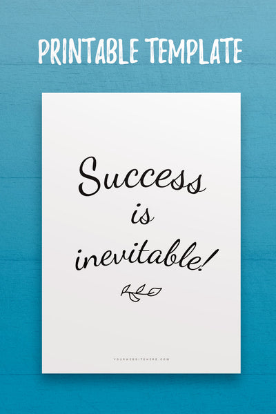 Success is Inevitable Quote InDesign Template