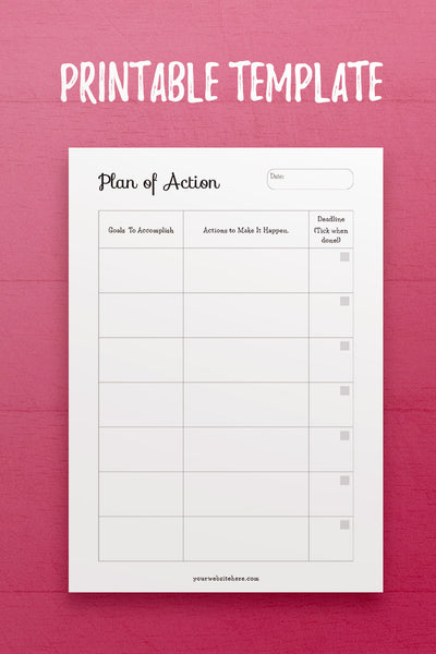 YY: Plan of Action InDesign Template