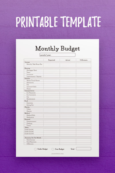 FP: Monthly Budget 1 InDesign Template