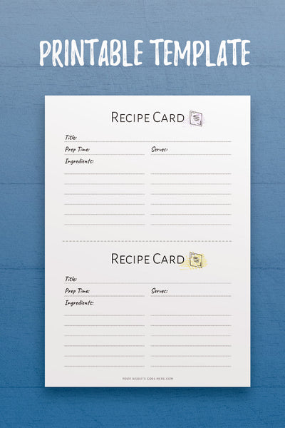 Recipe Card InDesign Template
