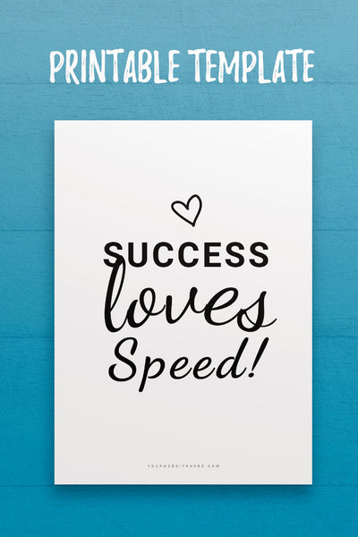 Success Loves Speed Quote InDesign Template