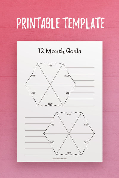 CSB: 12 Month Goals InDesign Template