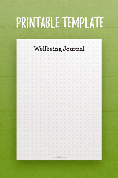 HF: Wellbeing Journal InDesign Template