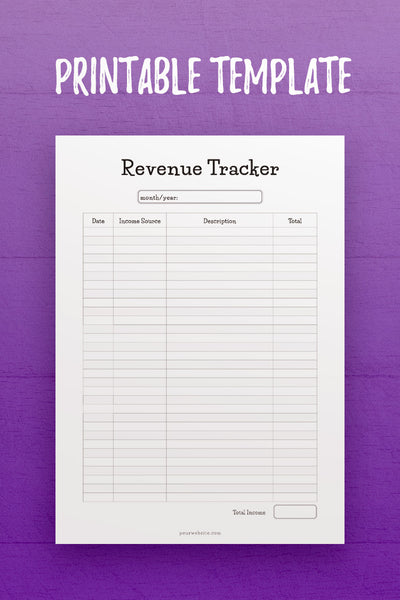 FP: Revenue Tracker InDesign Template