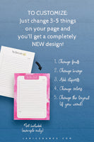 Task Lists InDesign Template Collection