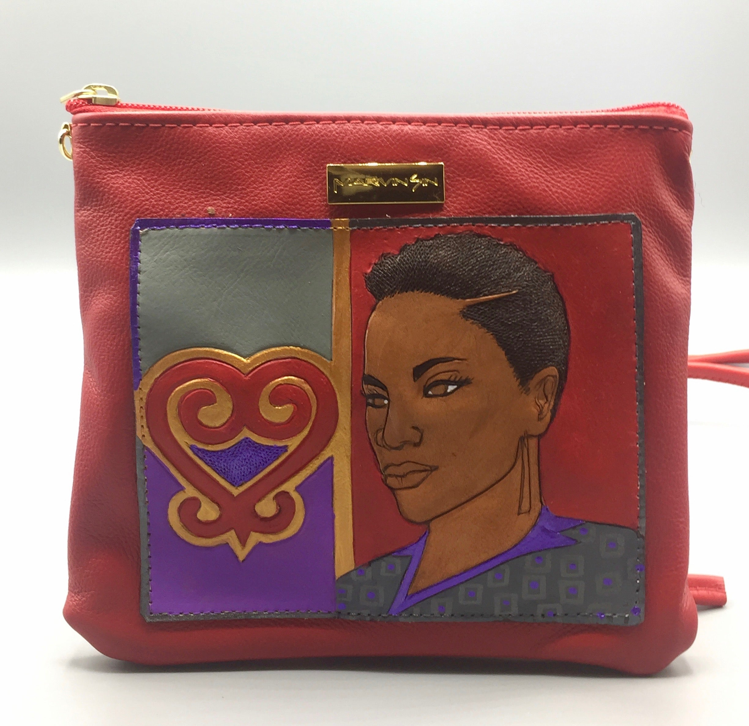 "ZIP COSMET EVENING BAG - ""SANKOFA SISTER"""
