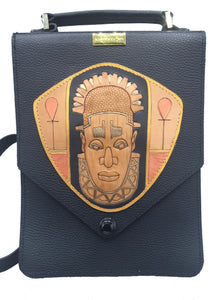 "Nu Classic Shoulder Bag - ""OBA of BENIN"""