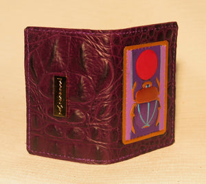 "BUSINESS CARD CASE - ""PURPLE SCARAB"""