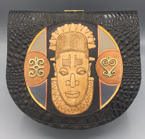 "CROSS BODY ROUNDER - ""OBA of BENIN"""