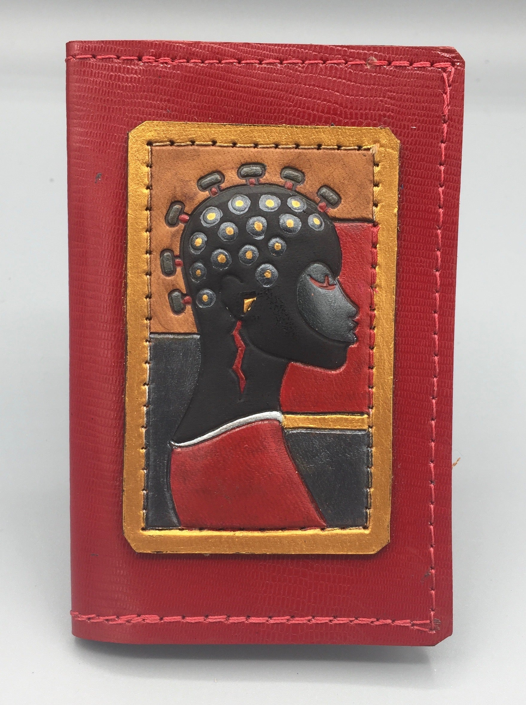 "BUSINESS CARD CASE - ""NUBIAN KNOTS"""