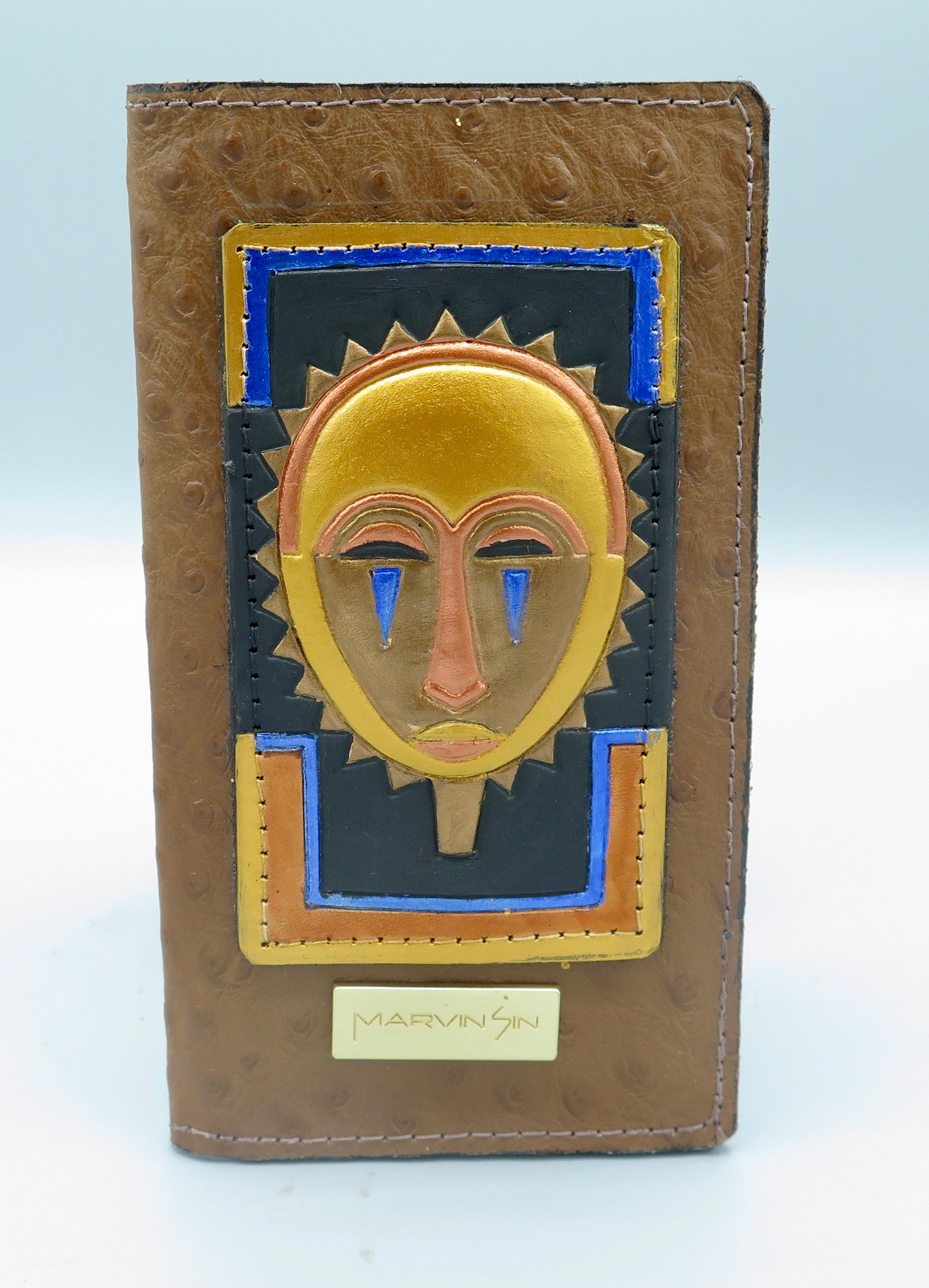 "CHECKBOOK COVER - ""Baule Mask"""