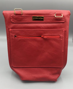 "SMALL CROSS-BODY BUCKET - ""LEGENDARY RED"""