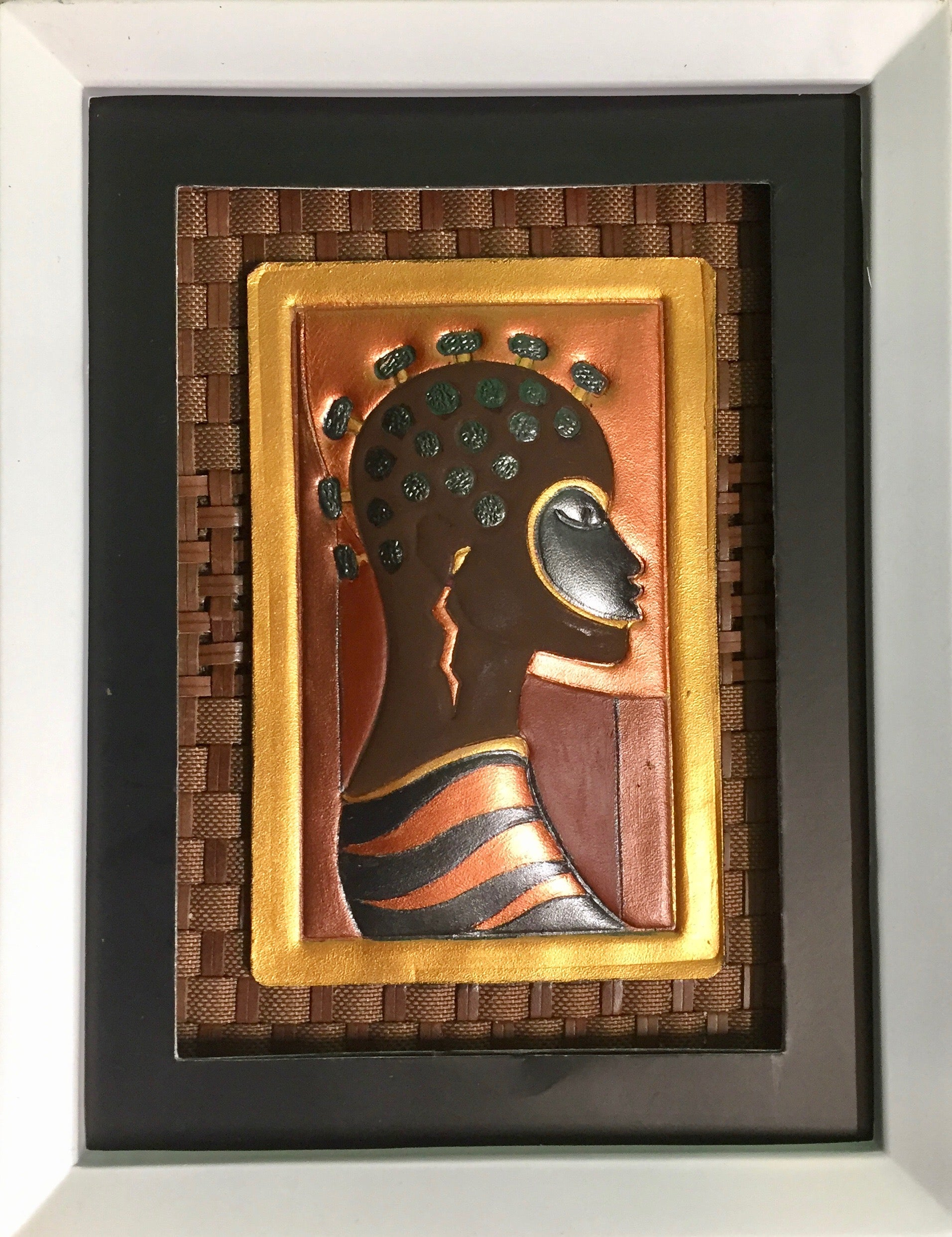 "FRAMED ARTWORK  - ""NUBIAN KNOTS"""