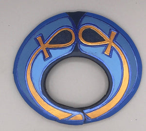 "ELLIPSE BRACELET - ""ANKH on BLUE"""