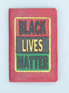 "BUSINESS CARD CASE - ""BLACK LIVES MATTER - RED 1"""