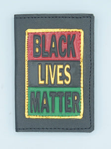 "BUSINESS CARD CASE - ""BLACK LIVES MATTER - BLACK 2"""