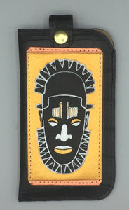 "EYEGLASS CASE - ""OBA of BENIN in BLACK"""