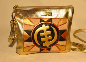 "ZIP COSMET EVENING BAG - ""GYE NYAME DECO"""
