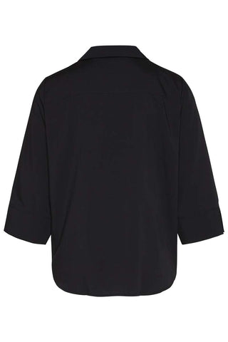 Wunderwerk Tencel Revers Blouse Black